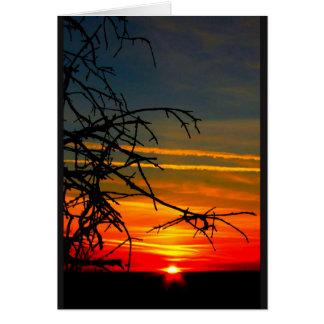 Lake Winnebago Sunset Thinking Of You Card
