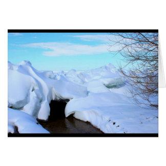 Lake Winnebago Winter Scene Thinking Of You Card