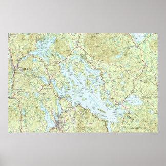 Lake Winnipesaukee Map (1986) Poster