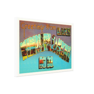 Lake Winnipesaukee New Hampshire Travel Souvenir Canvas Print