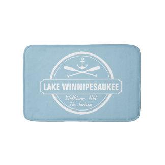 Lake Winnipesaukee NH custom town, name, anchor Bath Mat