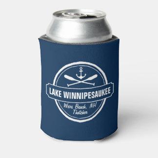 Lake Winnipesaukee NH custom town, name, anchor Can Cooler