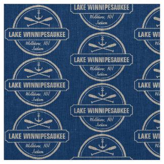 Lake Winnipesaukee NH custom town, name, anchor Fabric