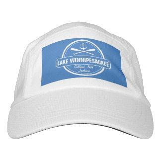 Lake Winnipesaukee NH custom town, name, anchor Headsweats Hat