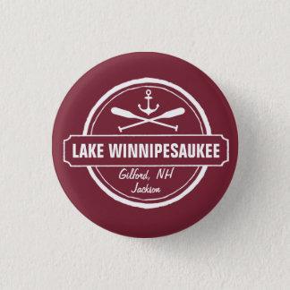 Lake Winnipesaukee NH custom town, name, anchor Pinback Button