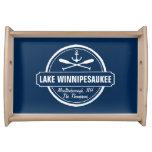 Lake Winnipesaukee NH custom town, name, anchor Serving Tray