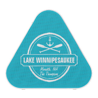 Lake Winnipesaukee NH custom town, name, anchor Speaker