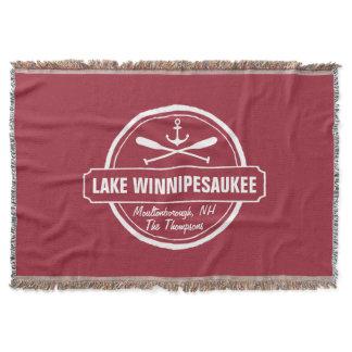 Lake Winnipesaukee NH custom town, name, anchor Throw