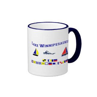 Lake Winnipesaukee, NH Ringer Coffee Mug