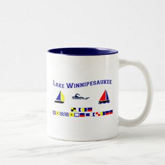 Lake Winnipesaukee, NH Two-Tone Coffee Mug