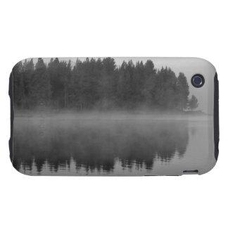 Lake with fog, Oregon iPhone 3 Tough Cover