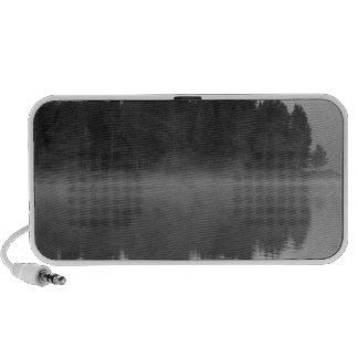 Lake with fog, Oregon Portable Speaker