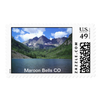 Lake with Maroon Bells Stamp