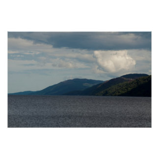 lake with mountain poster