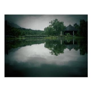 Lake with shadow card