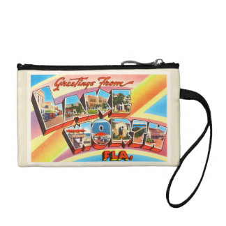 Lake Worth Florida FL Old Vintage Travel Souvenir Change Purse