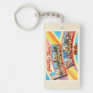 Lake Worth Florida FL Old Vintage Travel Souvenir Keychain