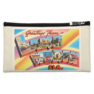 Lake Worth Florida FL Old Vintage Travel Souvenir Makeup Bag
