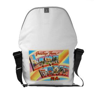 Lake Worth Florida FL Old Vintage Travel Souvenir Messenger Bag