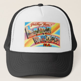 Lake Worth Florida FL Old Vintage Travel Souvenir Trucker Hat