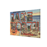 Lake Worth, Florida - Large Letter Scenes Gallery Wrapped Canvas