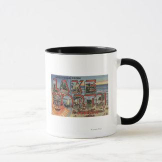 Lake Worth, Florida - Large Letter Scenes Mug