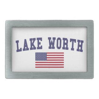 Lake Worth US Flag Belt Buckle