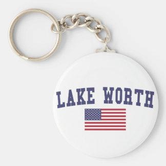 Lake Worth US Flag Keychain