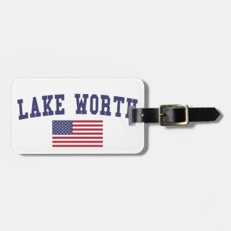 Lake Worth US Flag Luggage Tag