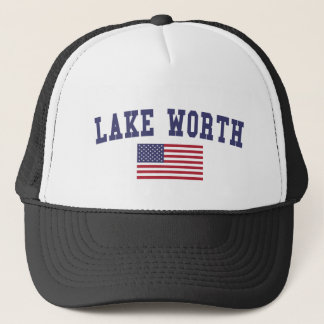 Lake Worth US Flag Trucker Hat