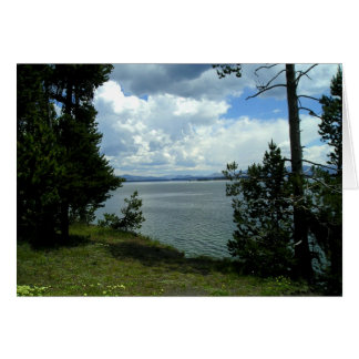 Lake Yellowstone Blank Note Cards