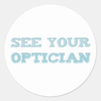 Lake your optician classic round sticker