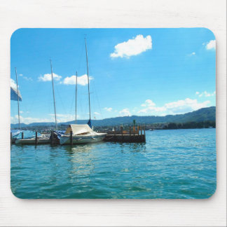 Lake Zurich Boats Mouse Pad