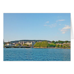 Lake Zurich, view to the Bellewue bridge Card