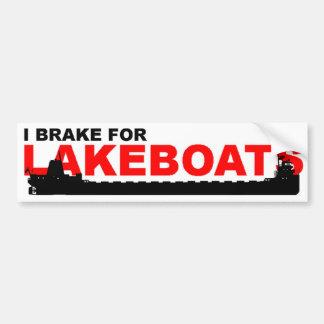 Lakeboat bumper sticker -- Classic Car Bumper Sticker