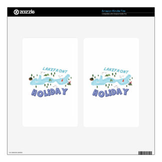 Lakefront Holiday Decals For Kindle Fire