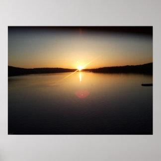 Lakefront Sunrise Poster