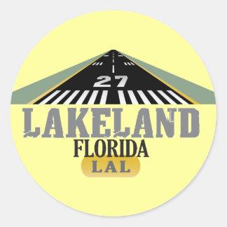 Lakeland FL - Airport Runway Classic Round Sticker
