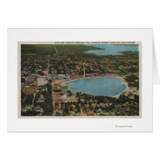 Lakeland, Florida - Aerial City View Showing Greeting Card