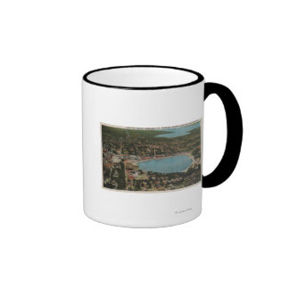 Lakeland, Florida - Aerial City View Showing Coffee Mugs