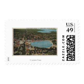 Lakeland, Florida - Aerial City View Showing Postage Stamps