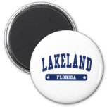 Lakeland Florida College Style tee shirts 2 Inch Round Magnet