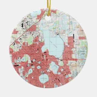 Lakeland Florida Map (1994) Ceramic Ornament