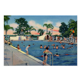 Lakeland Florida Municipal Swimming Pool Posters