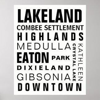 Lakeland Hoods 16x20 black Poster