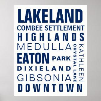 Lakeland Hoods 16x20 navy Poster