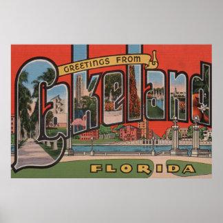 Lakeland, la Florida - escenas grandes de la letra Póster