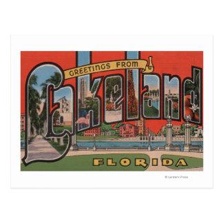 Lakeland, la Florida - escenas grandes de la letra Tarjetas Postales