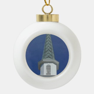 Lakeland Steeple Ceramic Ball Christmas Ornament