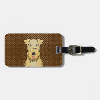 Lakeland Terrier Cartoon Paws Travel Bag Tags
